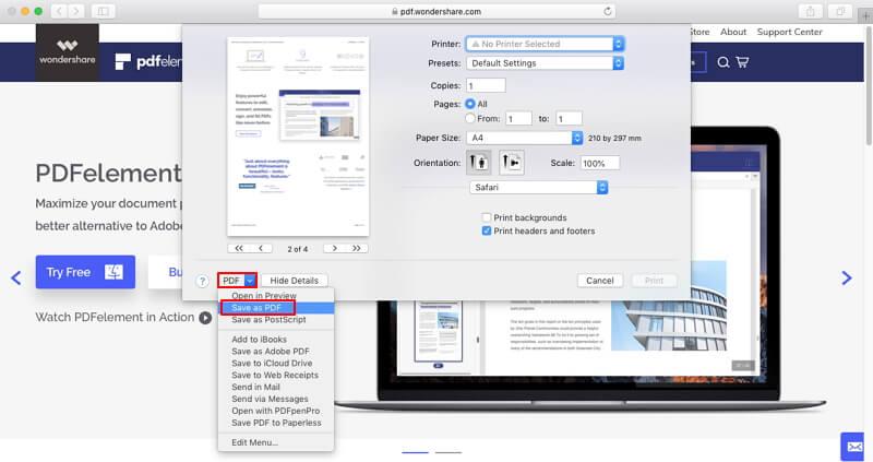 mac convert html to pdf