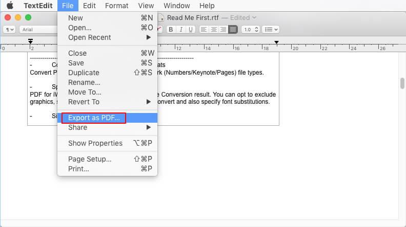 how to convert rtf to pdf on mac