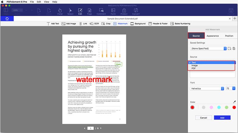 Wasserzeichen zu PDF hinzufügen Mac