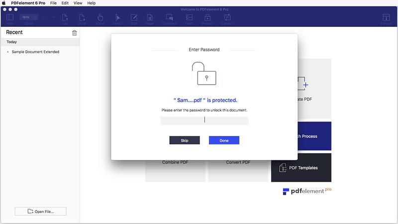 открытие pdf-файлов защищенных паролем