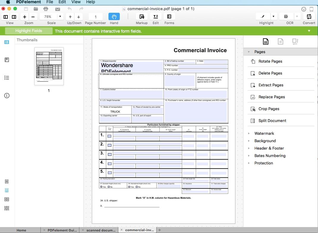 preencher formulários