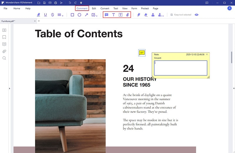add notes to PDF