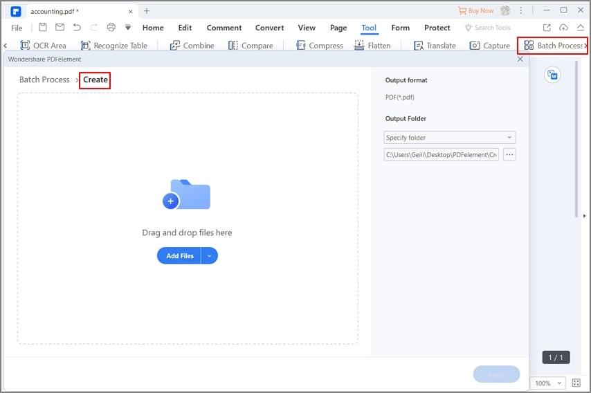 create pdfs in batch