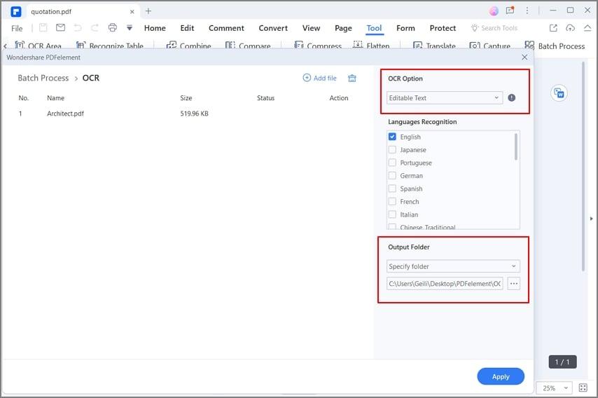 ocr auf viele pdf dateien anwenden