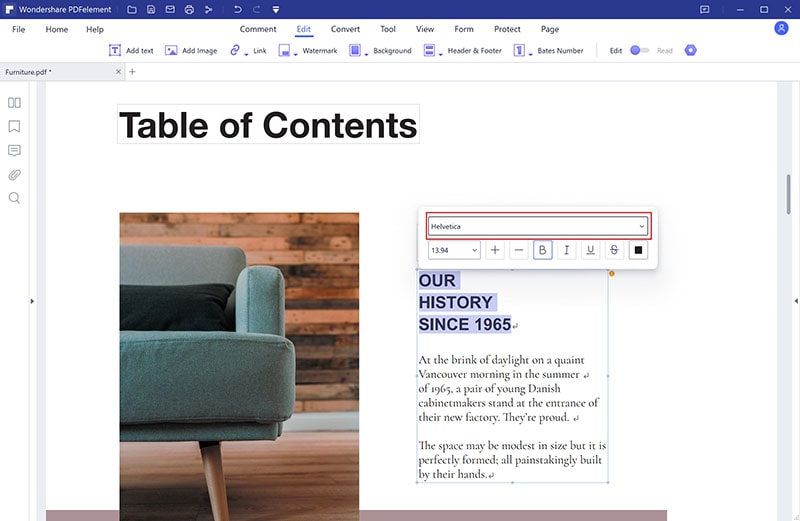edit pdf online with same font