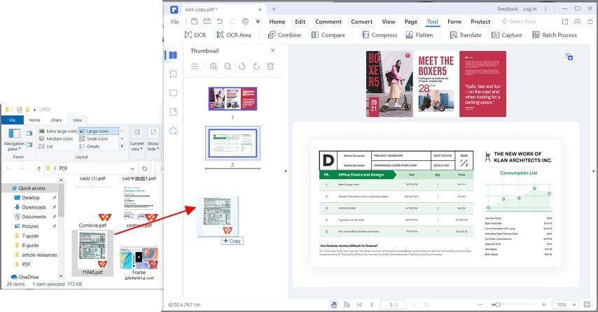 combine pdf together