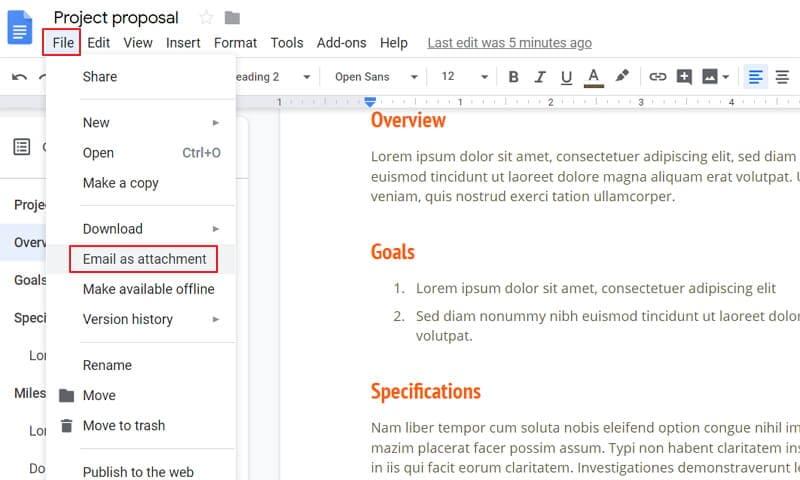 how to make a pdf on google docs