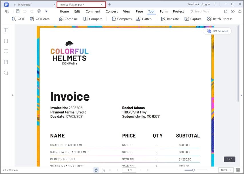 ein pdf online verflachen
