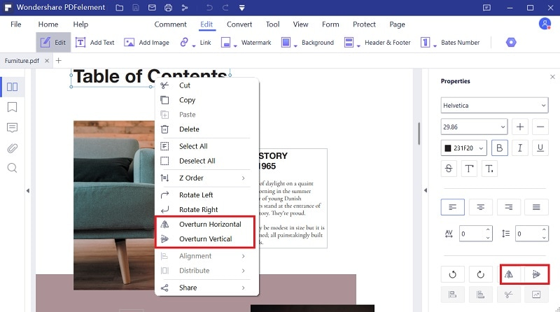 how to mirror an image in word