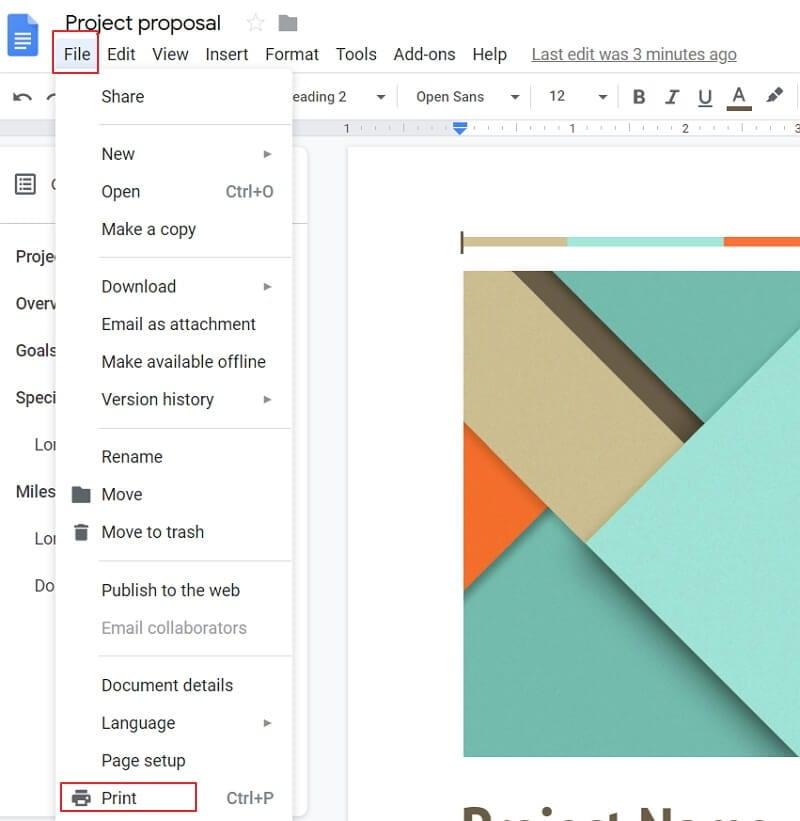 how do i make a google doc a pdf