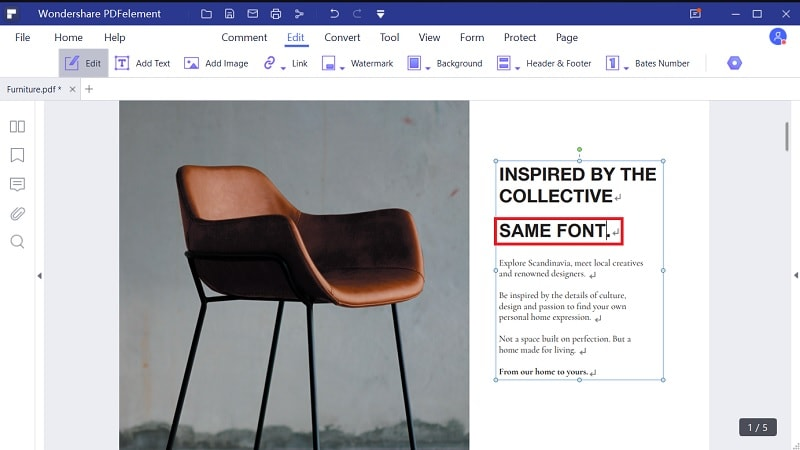 edit pdf text with same font online free