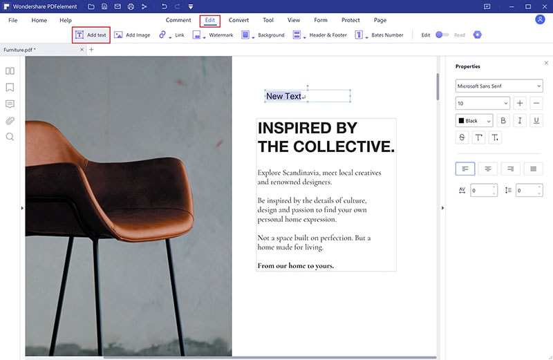 edit pdf font online