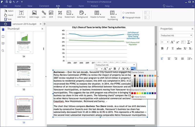 pdf schriftfarbe ändern