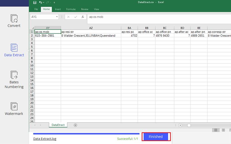 extraer datos del formulario pdf a Excel