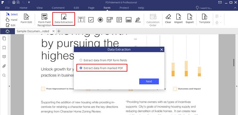 extrair dado de formulário pdf