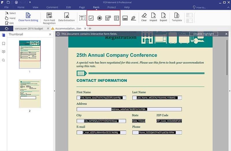 designer de formulários pdf