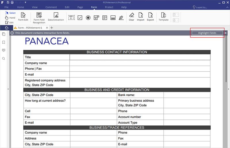 PDF Formular ausfüllen