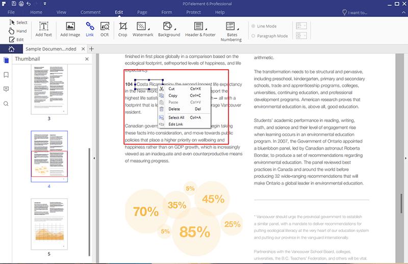 modifica collegamenti pdf