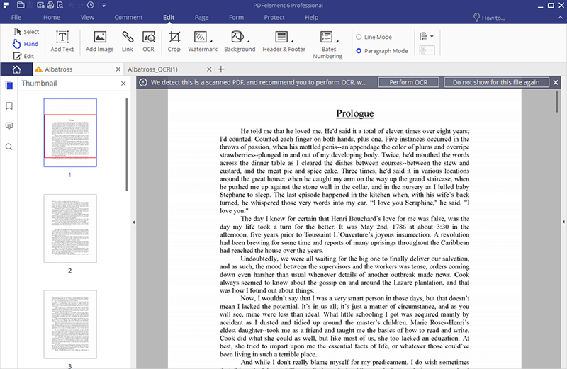 ocr pdf with adobe reader