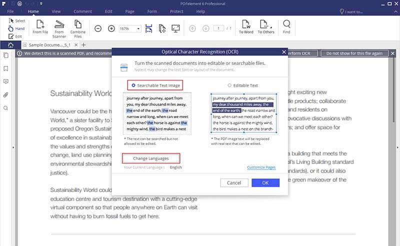 Gescanntes pdf in durchsuchbares pdf konvertieren