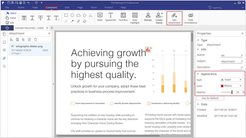 inerire pdf in excel 2016