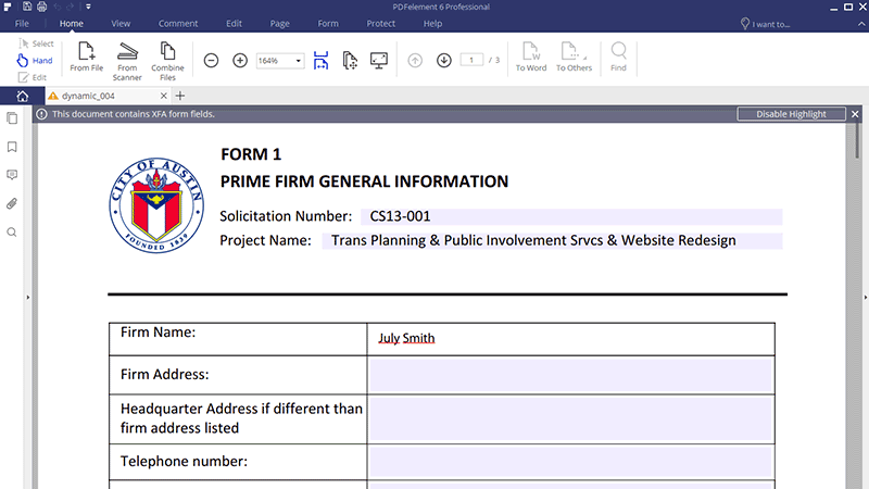convertir formulario xfa a pdf
