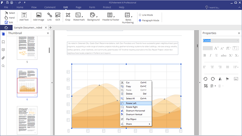 editar objetos gráficos en pdf