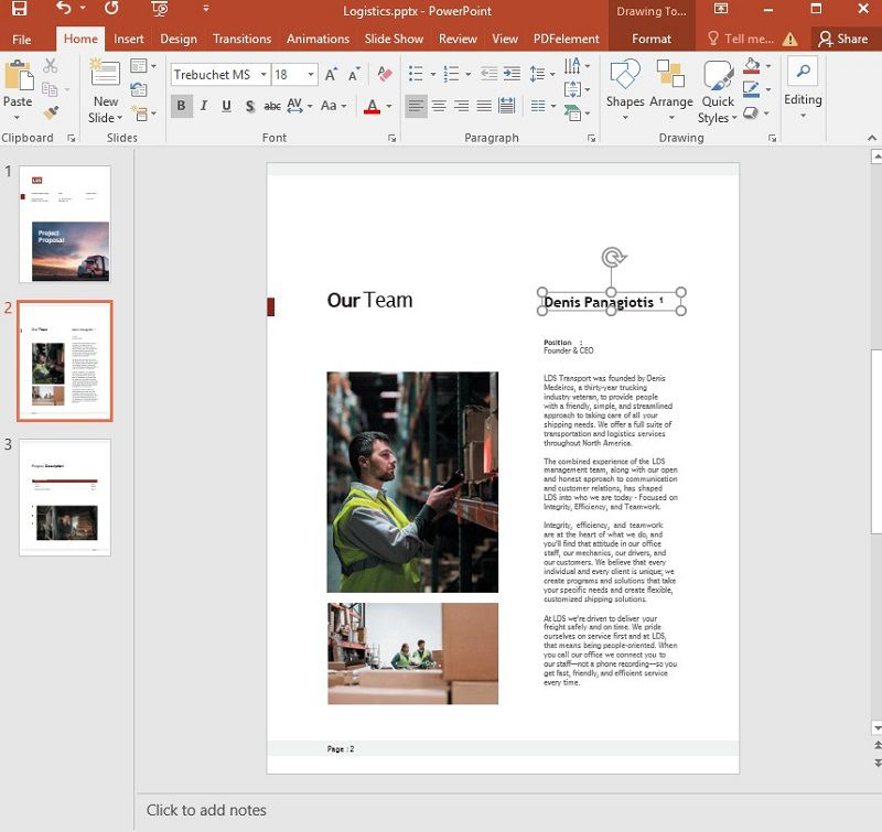 add foootnotes to ppt