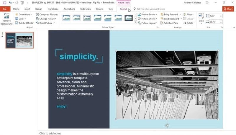 powerpoint flip image