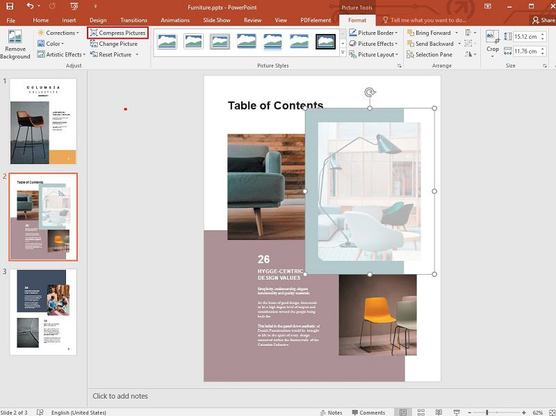compress images in ppt