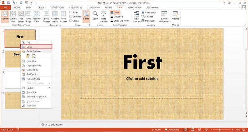 copy a slide in ppt