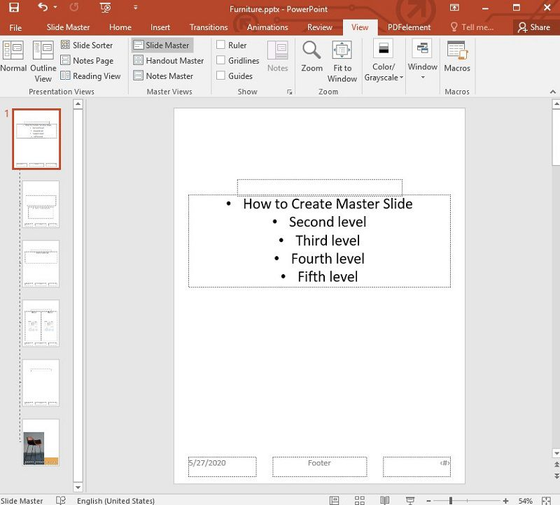 edit master slide in ppt