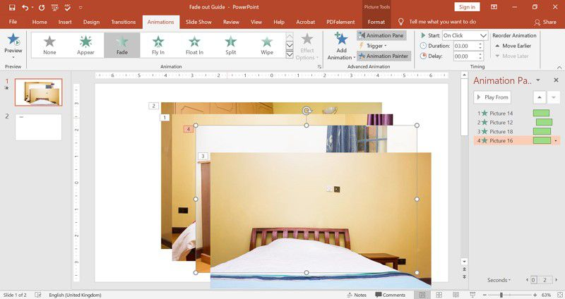 fade picture in PowerPoint