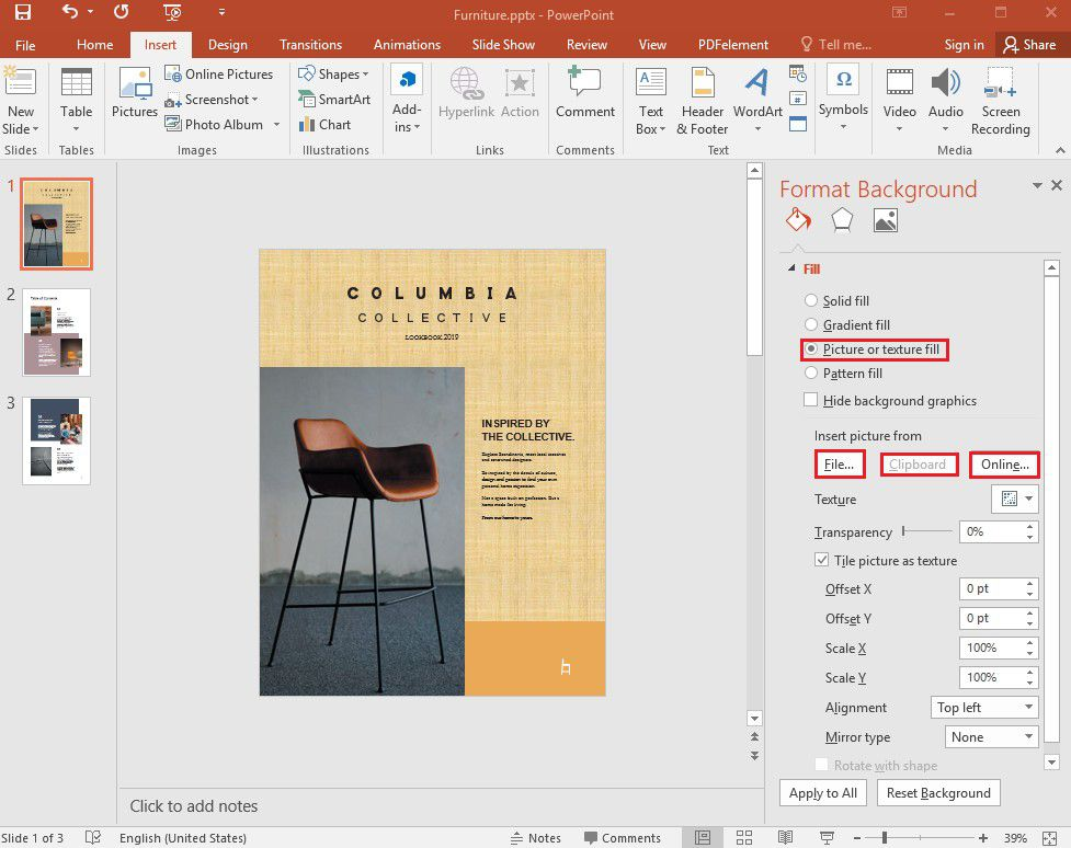 add background image in powerpoint