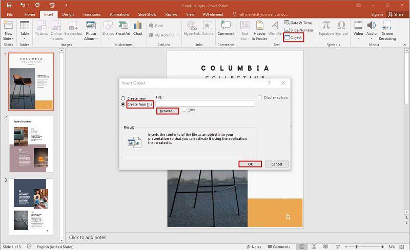 insert pdf to ppt on mac