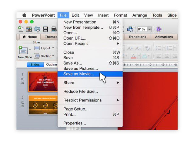 powerpoint to video mac