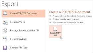 save ppt as pdf