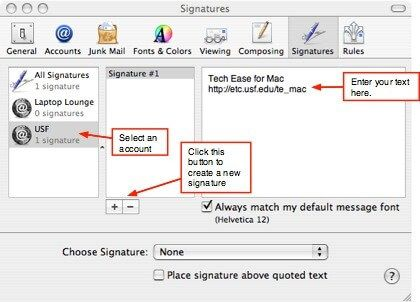 cómo agregar una firma en el correo de mac