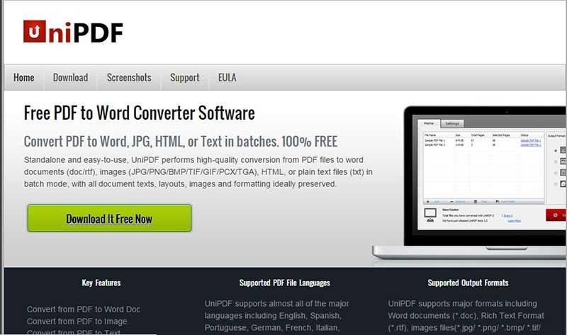 Convertitore Nitro da Word a PDF