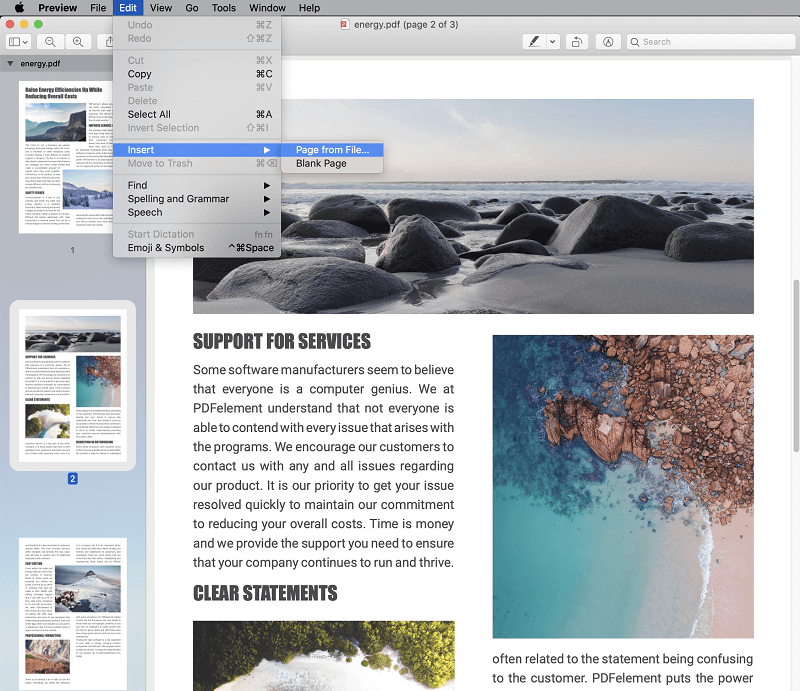 insert image into pdf preview