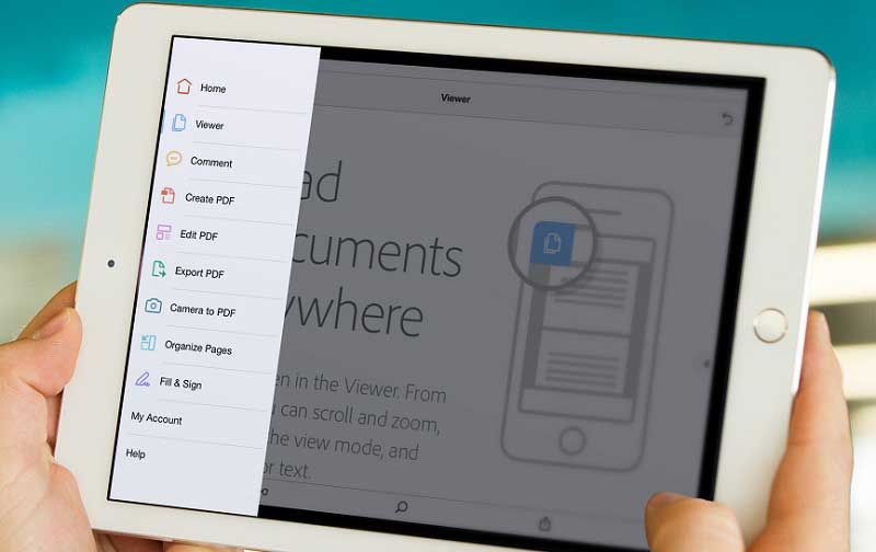 Preencher pdfs no iphone com adobe