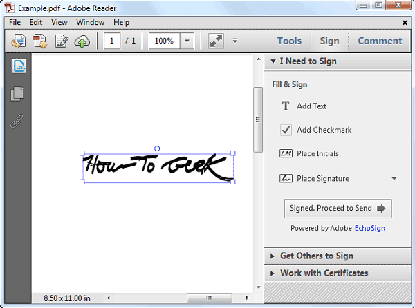adobe sign pdf