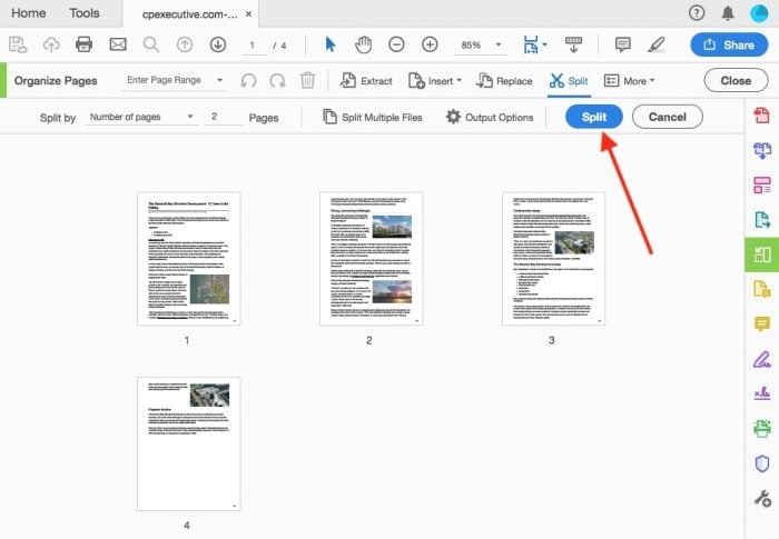 split pdf pages into separate files