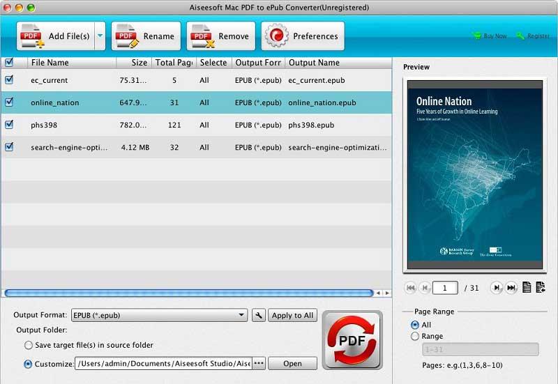 conversor de pdf para epub no mac