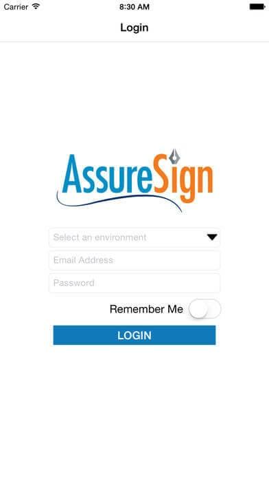 Digitale Signatur-App für das iPhone