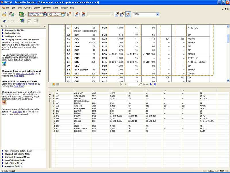 pdf to excel converter software