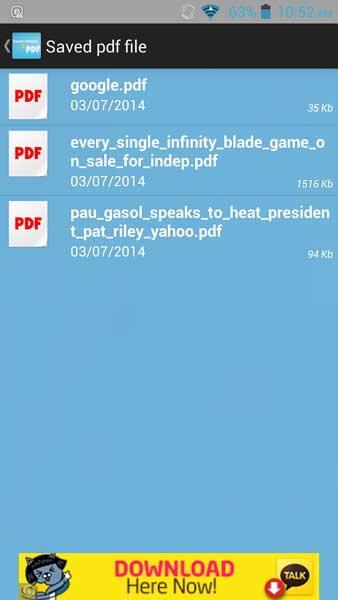 Convertir web a PDF