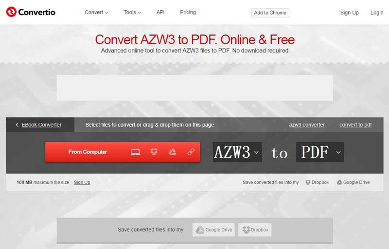 azw3 to pdf