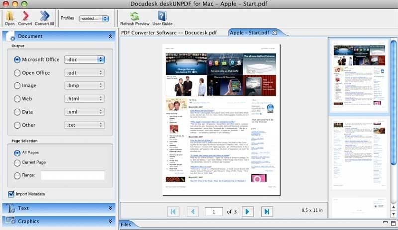 pdf convert program mac