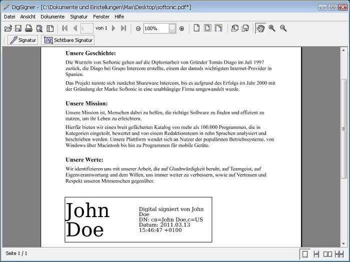 sign pdf free